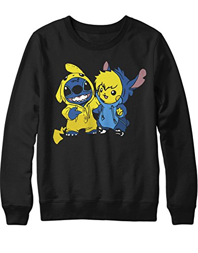 Sweatshirt Pika Stitch Freunde Friendship Game Poke C980022 Schwarz M