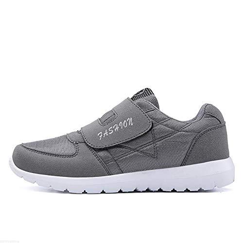 Fitness-Schuhe, Mesh-Turnschuhe von mittlerem Alter, leichte Sohlen, Velcro Schuhe, Up Shoes von Unisex Männer Frauen, Wanderschuhe, Laufschuhe -