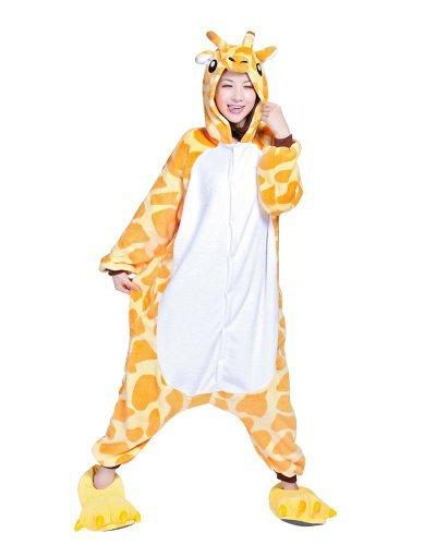 blau Eeyore Esel Unisex Kigurumi Einteiler Tier Pyjama Cosplay Kostüm Schlafanzüge - Giraffe, Asia-X-Large (Eeyore Esel Kostüm)