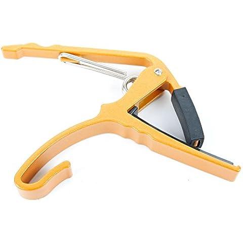 Bray Universal dorado disparador de la abrazadera ceja de la guitarra con relleno de goma - perfecto para cualquier acústica, eléctrica y bajo guitarra
