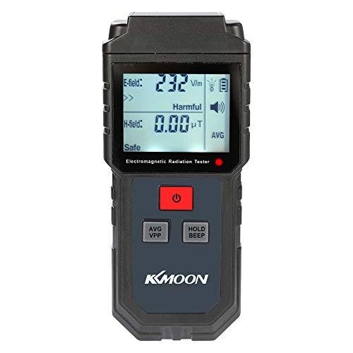 KKmoon EMF meter Digital LCD Elektromagnetische Strahlung Tester, Elektrische Feld Magnetfeld Dosimeter Detektor mit Ton und Licht Alarm Emf-tester