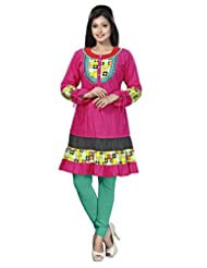 Indian Good-looking Multi Layered Casual Wear Cotton Kurti By Triveni