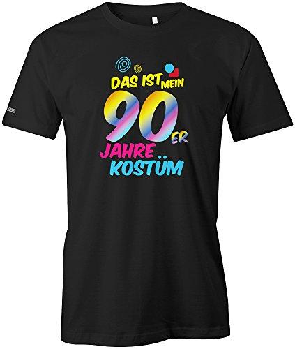 90er Jahre Kostüm - Herren T-Shirt in Schwarz by Gr. M (Schwarzen 90er Jahre Kostüme)