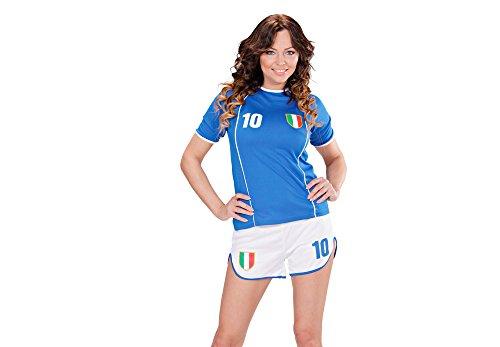 Preisvergleich Produktbild Widmann 97953 - Kostüm Fuballspielerin Italien, blau / weiß, Größe L