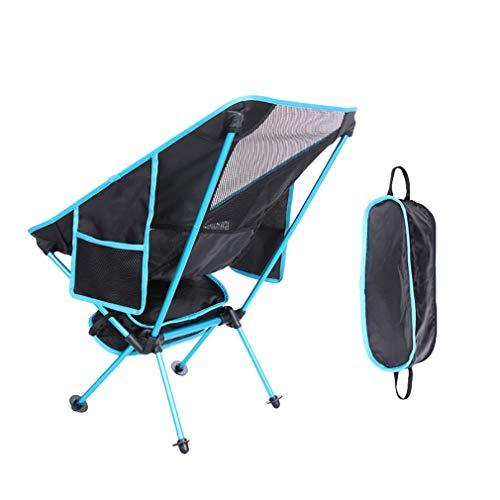 COMVIP Chaise Pliable Portable Alliage d'Aluminium pour Camping Pêche Randonnée Bleu Clair