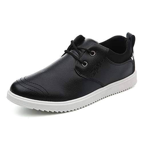 XI-GUA Wasserdichte Leder Schuhe für Herren Sorgen für weiche und leichte Krawatte mit rutschfesten abriebfesten urbanen Wander Schuhen