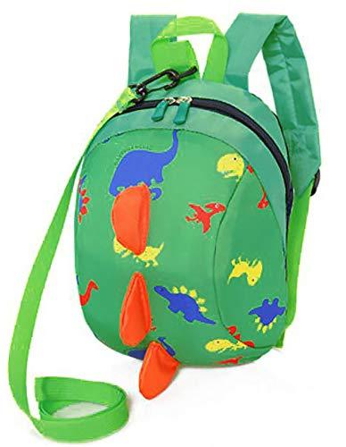 Zainetto per Bambini Carina Dinosauro Zaino per Bambini Kindergarten Sveglio Zaini per Infanzia Ragazze Ragazzi (Green)