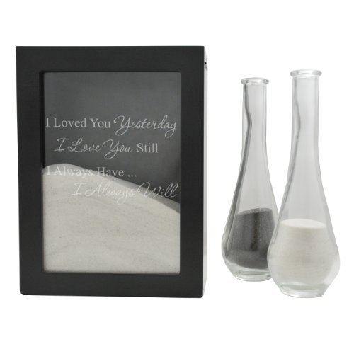 ays Design Sand Ceremony Shadow Box, Black by Cathy's Concepts (Sand Shadow Box)