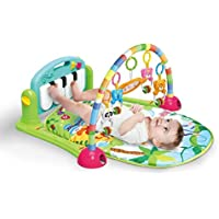 Meero London 666-7C-B New Born Baby Play Mat and Piano Activity Gym for New Born Babies and Toddlers, Discovery Carpet, Music, Rattle, Sound, Fun Animals Suitable from Birth Unisex