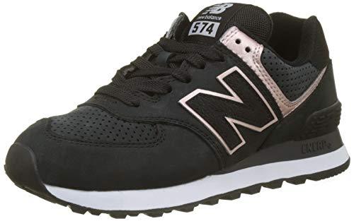 New Balance Damen 574v2 Sneaker, Schwarz (Black/Champagne Metallic Nubuck), 39 EU