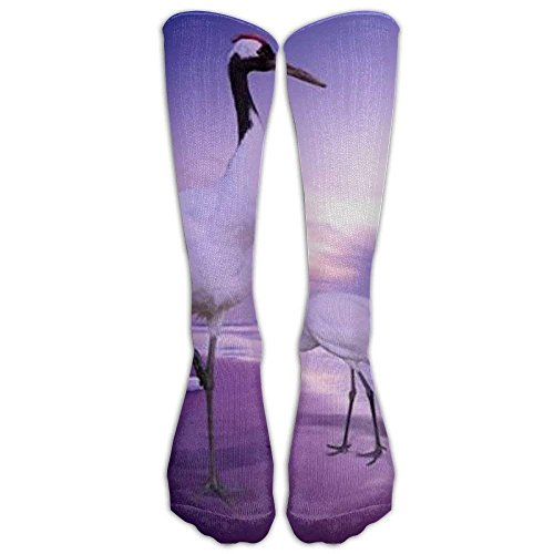 Long Cranes Birds Art Print Socks Women's Winter -