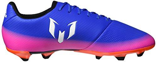 adidas Mädchen Messi 16.3 Fg J Futsalschuhe Blau (Blue/ftwr White/solar Orange)