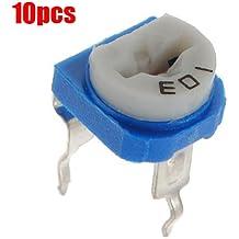 SODIAL(R) 10 X Resistor Condensador de Ajuste Potenciometro 6mm 10k ohm Horizontal Variable Cermet UK