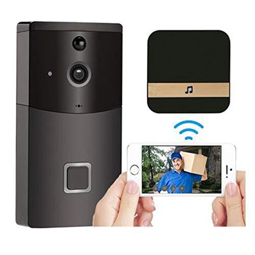 Video Timbre, WiFi Videoportero Inalambrico, Video Doorbell Cámaras 720P HD, con IR Visión Nocturna + Dingdong Timbre, Control de App para iOS Android iPad
