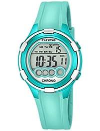Calypso Mujer Reloj Digital con Pantalla LCD Pantalla Digital Dial y Correa de plástico Turquesa K5692