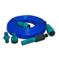 DKN 10m Flat Hose non-toxic extension for Caravan and Motorhome AQUASOURCE mains water
