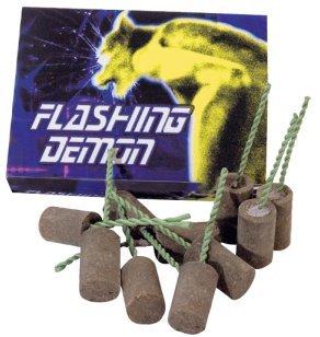 Preisvergleich Produktbild 12 Stück Flashing Demon ganzjahres Garten Feuerwerk
