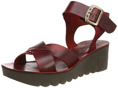 Fly Londra Damen Yeri909fly Wedge Sandlen Rot (rosso 006)