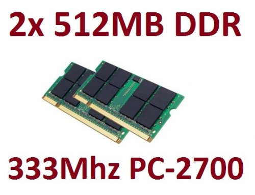 1Go OEM mémoire 2x 512 Mo 200 broches DDR-333 (333Mhz, PC-2700, SO-DIMM,...