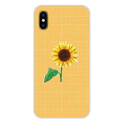 Handy-Shell-Fall Hippie Ästhetik gelb-Muster für iPhone X XR XS MAX 4 4S 5 5S 5C SE 6 6S 7 8 Plus ipod Touch 5 6-in Hälfte, Bilder 4, für iPhone 7 (Billige Lustige Iphone 4s Fällen)