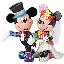 Disney 4058179 Figur Britto Mickey and Minnie Mouse Wedding, Resin, mehrfarbig, 22,2 x 15,9 x 19,7 cm