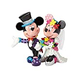 Enesco Disney Britto Figurita Mickey Y Minnie Mouse Figura Novio, Resina, 17x17x19 cm
