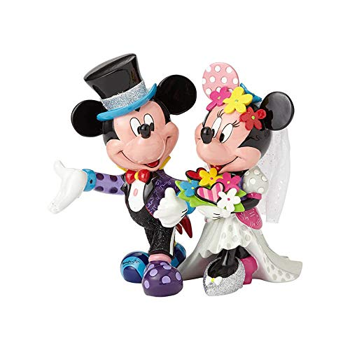 Disney 4058179 Figur Britto Mickey and Minnie Mouse Wedding, Resin, mehrfarbig, 22,2 x 15,9 x 19,7 cm