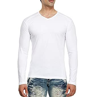 d84fd246be tees collection Men s Cotton V-Neck Full Sleeves T-Shirt  Amazon.in ...