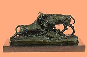 Bronze Sculpture Statue...LIVRAISON GRATUITE...Signé Combat Clésinger De Taureaux Animal Art(AL-150-EU) Statues Figurines Figurine Nu bureau et décoration pour la maison Collectibles Premier jour Vente Traiter Cadeaux