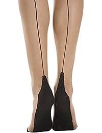 Missi 15 Denier Seamed Stiletto Heel Tights - Blk/Blk Blk/Red Nat/Nat Nat/Blk