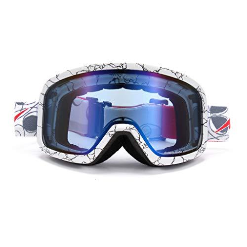 Skibrille doppelte Anti-Fog-Ski-Brille für Männer und Frauen Schnee Spiegel (Farbe : L)