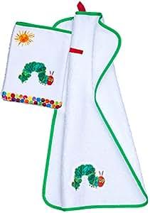 Smithy Handtuch-Set mit Waschhandschuh//Waschlappen mit der Raupe Nimmersatt