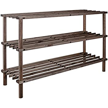 xl schuhregal natur holz 3 b den holz schuhst nder schuh regal holzregal schuhablage shoe rack. Black Bedroom Furniture Sets. Home Design Ideas