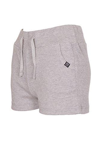 Femmes décontractée Été Vacances Coton Shorts Pantalon Courte Gris