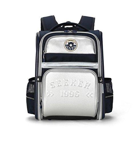 Rventric Studenten-Rucksack-Große Schultasche Für Kinder Reizendes Wasserdichtes Hochleistungs-Dekompressions-Krankenpflege-Kind-Geschenk,Silver