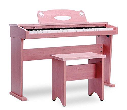 Artesia F-61PK Kinder Digitalpiano (E-Piano, Keyboard, Bank, Kopfhörer, 61 anschlagsdynamische Tasten, 8 Sounds, 1 Demo Song, 32-Fache Polyphonie, USB-Anschluss, inkl. Apps für Android und iOS) pink