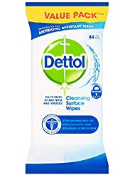 Dettol Antibacterial  Surface Cleaning Wipes, 84 Wipes