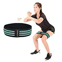 VLikeze Resistance Loop Bands, Exercise Resistance Bands, Fitness Workout Bands for Unisex Hip Legs Arms Gym Training, Yoga Loop Bands with Natural Rubber Fiber, Non-Rolling,one Pack