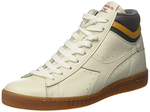 Diadora Game L High, Sneaker a Collo Alto Uomo, Bianco (White/Plum Kitten/Inca Gold), 46 EU