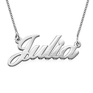 Namenskette in Schreibschrift – 925er Silber Personalisiert mit Ihrem eigenen Wunschnamen!