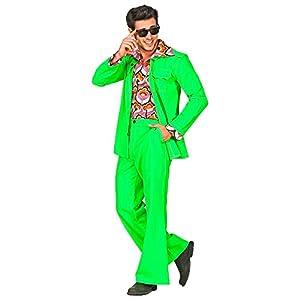 WIDMANN 09391 Disfraz de años setenta para hombre, verde, S