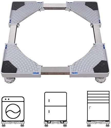 WJSW Einstellbare Waschmaschinen-untergestell Sockel Sockel Für Waschmaschine Und Trockner (größe: 47 Cm-70 cm) Für Trockner, Gefrierschrank Oder Kühlschränke,Grey