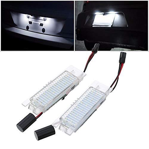Ricoy 2 pz 18 LED luce targa per Corsa C D Astra H J Insignia 6000K (confezione da 2)