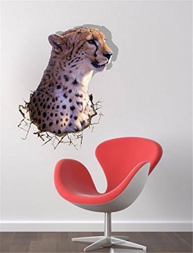 n für Halloween 3D (Leopard) Wand Tapeten/Schlafzimmer/Wohnzimmer/TV/Sofa/Hintergrund/HD/selbstklebende Sticker / (58 * 73 cm) (Hd Halloween Tapete)