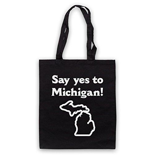 Ispirato A Dire Di Sì Al Michigan Come Indossato Dal Jack Bianco Non Ufficiale Delle Tasche Del Mantello Nero