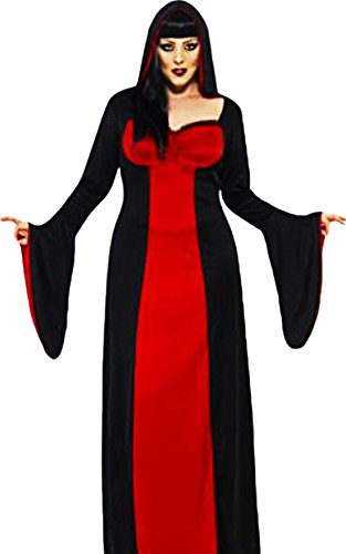 Damen Halloween Kostüm, Vampir Twilight-Queen, schwarz rot , Big-Size - Vampir-kostüme Twilight