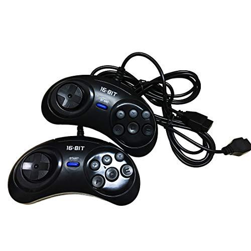 【 2Stück 】 16Bit Game Controller 6Taste für Sega Genesis-Schwarz (Videos Spiel Iphone-5-controller)