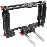 Kamerar TK-2 Cage de maintien pour appareil photo reflex numérique 115 possibilités de raccordement En set avec système de tubes Noir