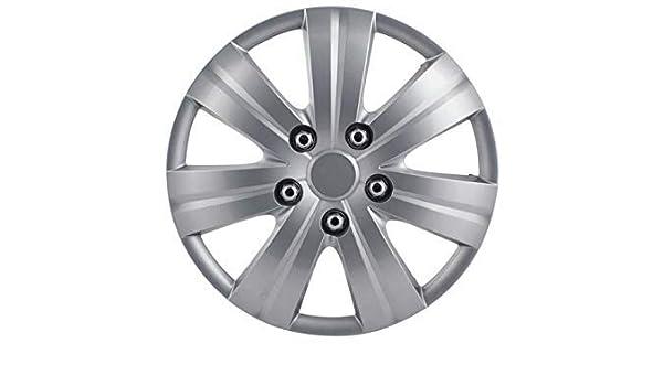 Set of 4 Pilot Automotive WH523-16S-BX Matte Silver 7 Spoke 16 Wheel Cover,