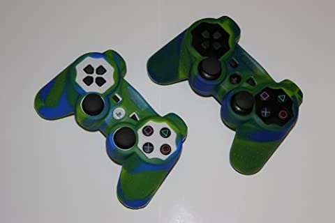 Silicone Skin BLUE GREEN CAMOUFLAGE Sony